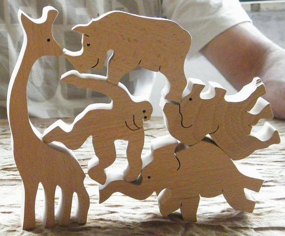 Chunky Wooden Animals photo