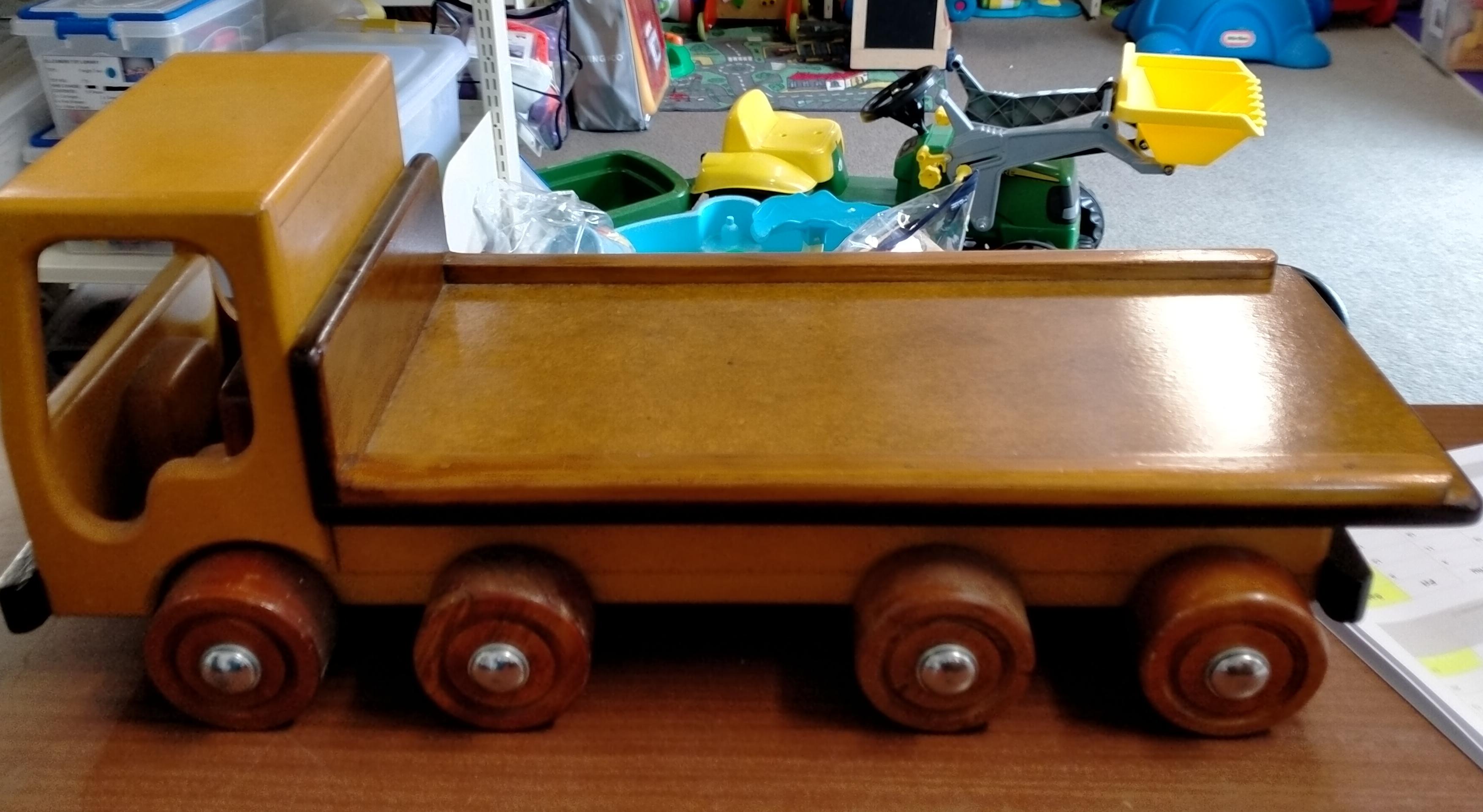 Wooden Flat Deck Truck